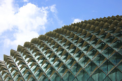 Durian in the City (Guang Ye) Tags: roof urban glass architecture singapore flickr theatre cityhall arts esplanade durian estrellas cbd spikes photooftheday concretejungle d40 alignements aplusphoto 1on1architecture favemegroup3 platinumheartaward internationalflickrawards 30dec08