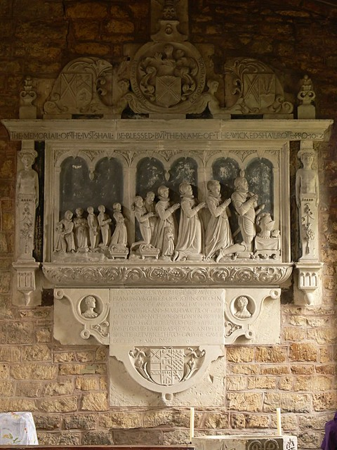 Reigate stone monument, children, tudor
