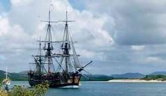 Endeavour_replica_in_Cooktown_harbour (teresa.nelle) Tags: ship captain cooks endeavor