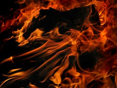 FlameScape 1.. (Sea Moon) Tags: light abstract fire flames burning heat inferno flaming trashfire