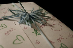 recycled wrapping paper (sarahreck) Tags: almostgone whileyouweremadatme imadesomerecycledwrappingpaper canyoubelievethatmydissertationcopiesare sothiswrappingpaper wasmadeoutofanoldpresentation forsed513ithink butcannotbecertain iwaswrappingyouapresent whileyouwerestillmadatme