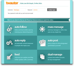 Auto-twitter via Twautor