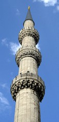 Minaret in the Blue Mosque, Istanbul (Alaskan Dude) Tags: travel turkey istanbul bluemosque mosques turkei