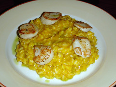 Pumpkin risotto with seared scallops at Guilty Lily, Bonnington Road, Edinburgh