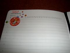 New Moleskine diary