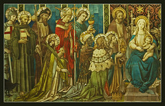 Saints and Magi adore the Christ Child (Lawrence OP) Tags: london church catholic christ jesus birth saints nativity stjames adoration magi wisemen epiphany blessedvirginmary spanishplace