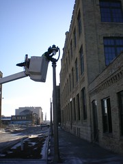 Streetlight's being installed at The Brewery