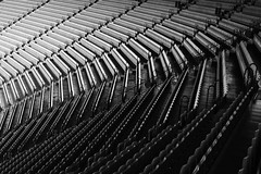 spare a seat? (~wibo~) Tags: stand pattern stadium empty australia melbourne victoria rows seats seating northern deserted mcg tier melbournecricketground
