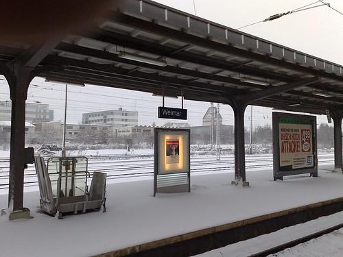 Verschneites Weimar