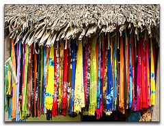 >pick your Pareo girls...we're off to the beach< (uteart) Tags: beach mexico colorful nayarit explore palapa sayulita sarongs pareos utehagen uteart explore010508