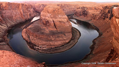 The Colorado River Makes A Grand Arc (Steven Christenson) Tags: river dawn photo colorado bend canyon horseshoe glencanyon horsehoe grandcircle
