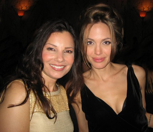 Fran Drescher with Angelina Jolie