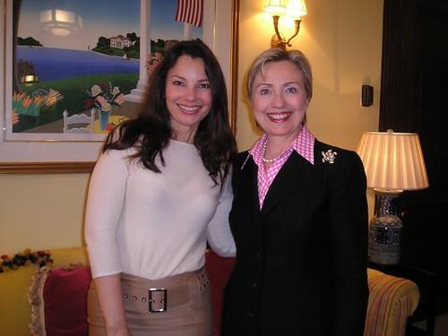 Fran Drescher with Hillary Clinton