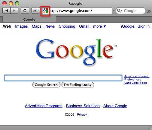 Google's new favicon (January 2009)