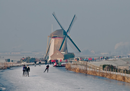 Dutch canal skating