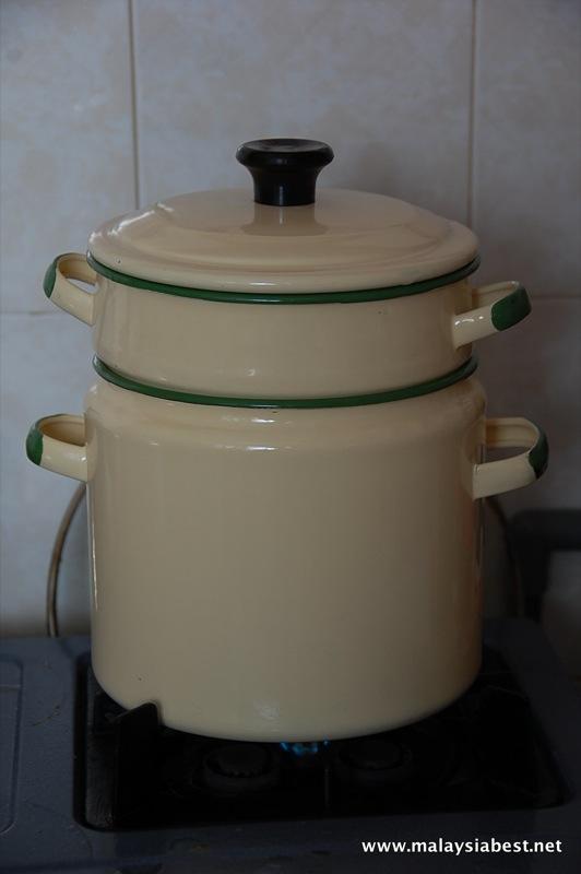 enamel double boil pot