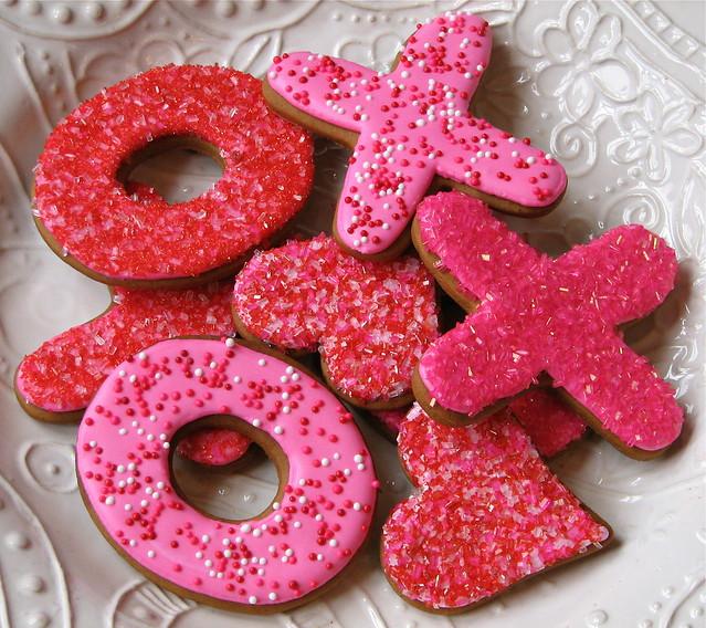 X + O Valentine Cookies