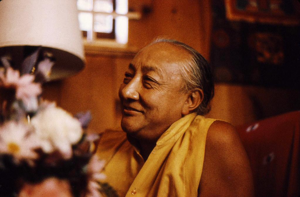 Dilgo Khyentse Rinpoche reflecting with a smile, at the Sakya Center ???????????????????, Seattle, Washington, USA