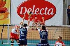 Delecta Bydgoszcz - ZAKSA Kędzierzyn Kożle (maciaz91) Tags: break attack tie poland plus volleyball block bydgoszcz liga bks chemik łuczniczka nikond80 kędzierzyn delecta zaksa kożle