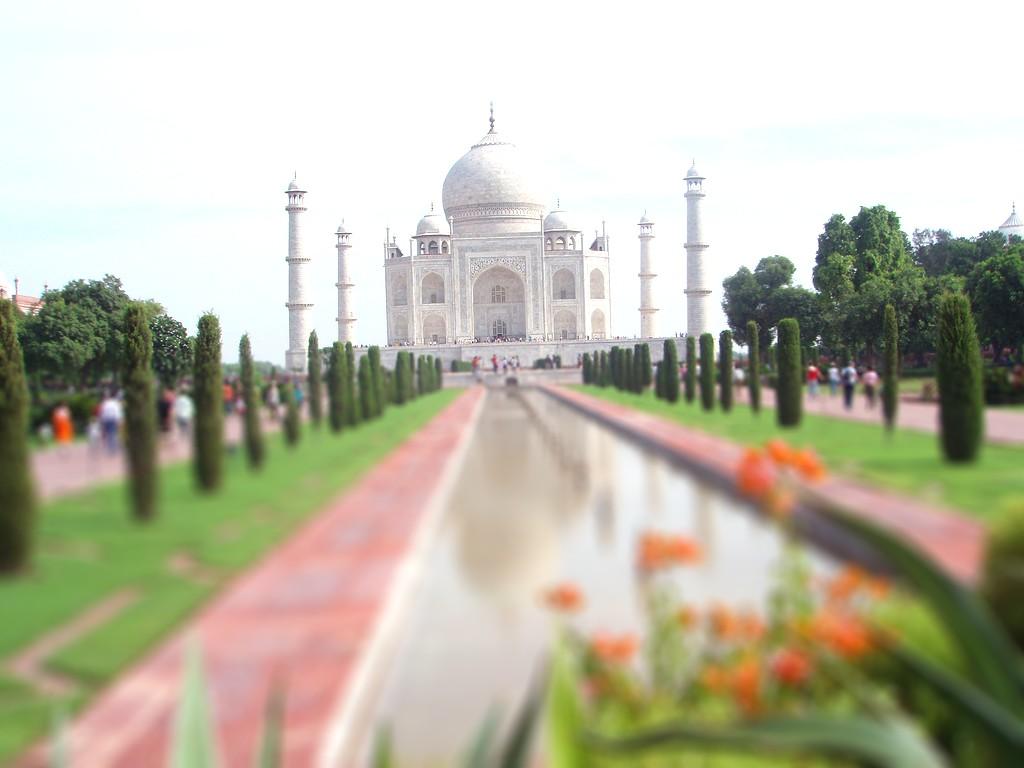El Taj Mahal de Agra Tilt Shift