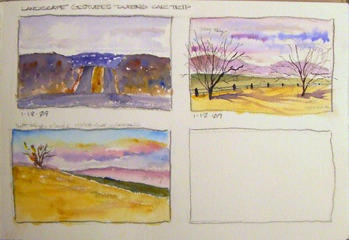 Watercolor Sketches - Landscape Gestures