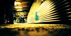 Globen Station (Cormac Phelan) Tags: winter motion blur film station train 35mm underground subway lomo lca xpro lomography sweden stockholm lka perspective january velvia globen phelan cormac aik