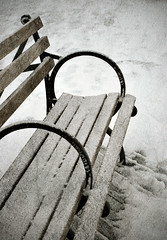 Oh Snowy Day (jami_lee) Tags: wood winter snow cold texture bench nikon boardwalk lalalala