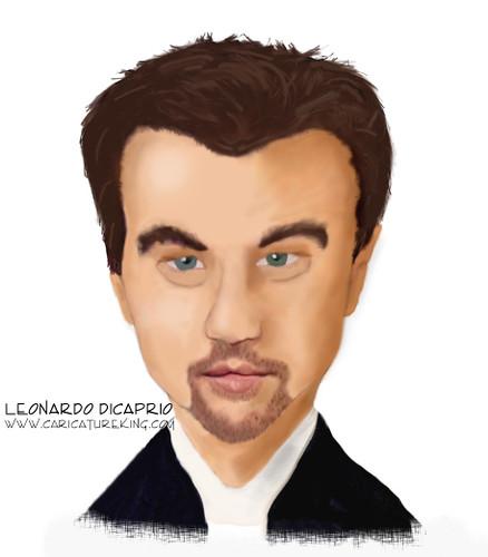 Caricature of Leonardo DiCaprio