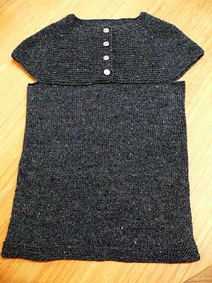 garter stitch yoke vest