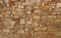 Vrfal / Castle Wall (sonofsteppe) Tags: old urban detail brick castle