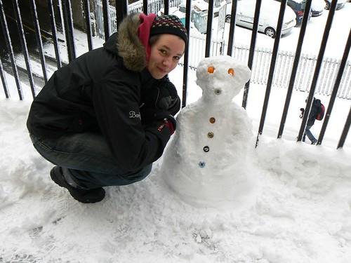 Sarah and her snowbear