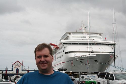 Mike in front of Carnival Elation