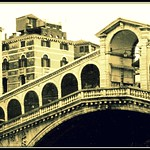 Pont du Rialto sous la pluie - Bridge of the Rialto under the rain