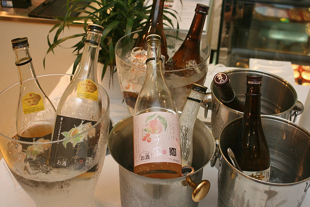 We got to sample various kinds of sake, including a lovely yoghurt one!