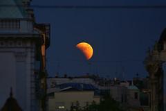 Lunar eclipse (Dragan*) Tags: street city light sky urban moon nature night serbia fullmoon belgrade beograd srbija umbra giap mesec knezmihailova pomracenjemeseca