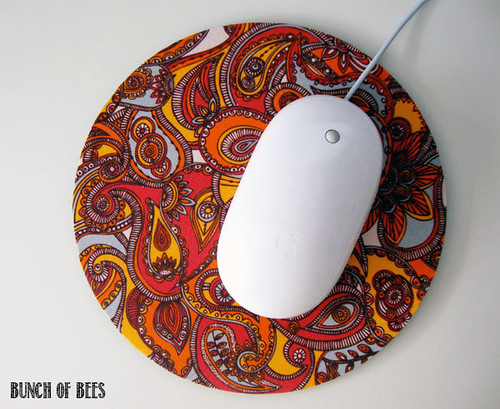 Fabric covered mouse pad or hot pad trivet