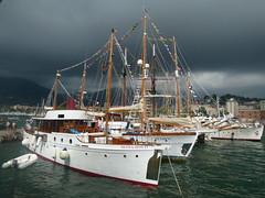 coralisle     g.l . watson  1933 (josephmeo) Tags: leica sea italy landscape mediterraneo ships woodenboat motoryacht harbours porti laspezia woodenboats classicboat luxur