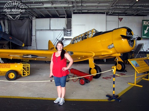 Karen on the Hangar Deck