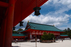 Daigokuden (main building) (kmmanaka) Tags: japan kyoto torii heianjingu votivepicture shurine paperfortunes