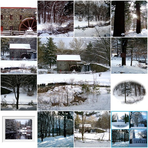 Longfellow's Wayside Inn and Old Grist Mill in Winter