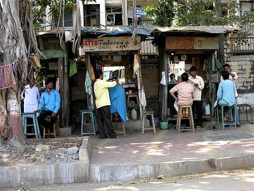 Una strada di Bombay