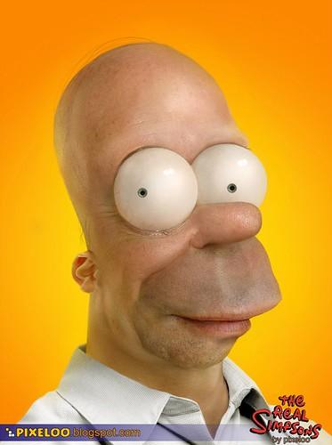 Homero Simpson en la realidad
