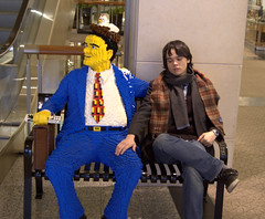 Jimmy and the Lego Man (SLJeremy) Tags: chicago mall lego jimmy