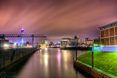 (Andreas Reinhold) Tags: longexposure industry water night port river geotagged harbor wasser industrial harbour crane hafen dsseldorf rhine rhein duesseldorf flus andreasreinhold geo:lat=51220385 geo:lon=6744189