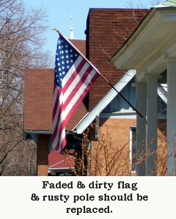 Faded flag & rusty pole ©2008 New Codgers