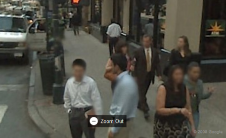 Google Maps Blurs Faces