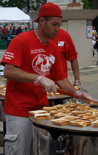 Grilling Cheese Sandwiches by the Dozens