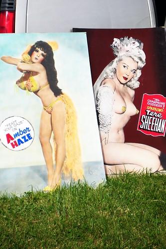 Vintage burlesque posters.