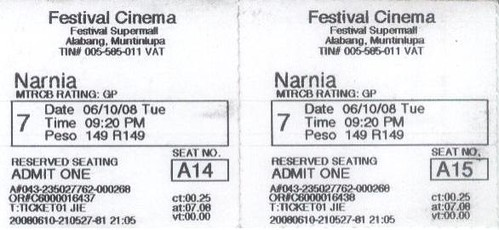 Narnia tickets