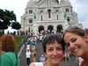 At the steps of the Sacre Coeur